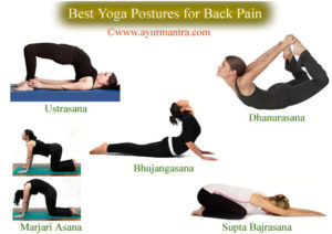 Yoga postures for back pain