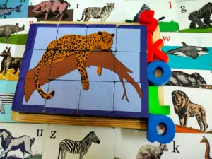 animal puzzle wooden toy