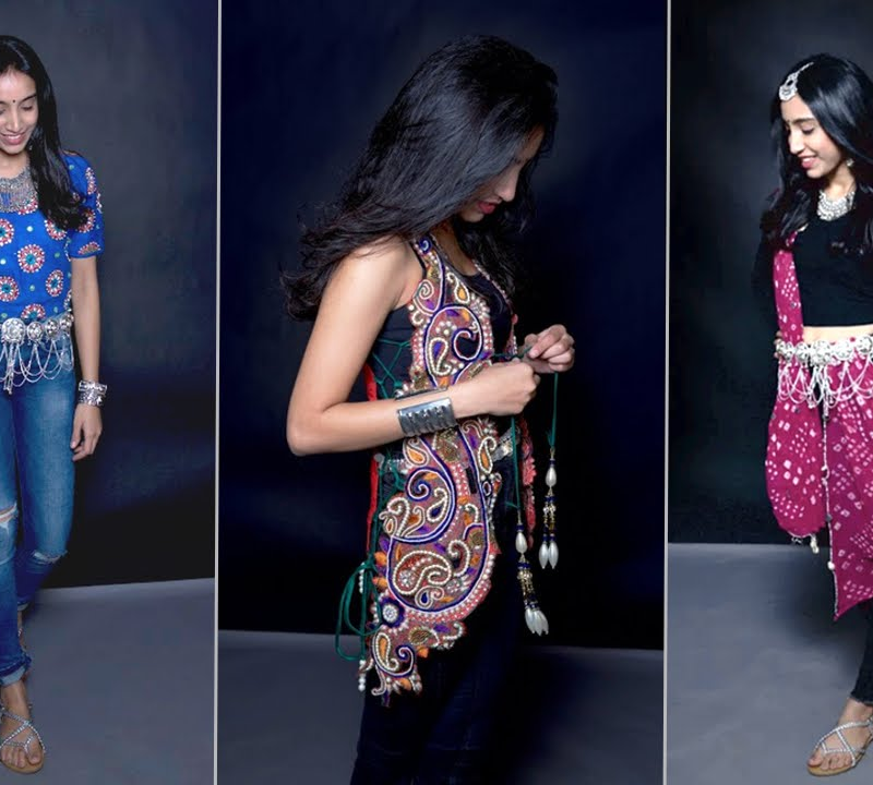 garba outfit with jeans