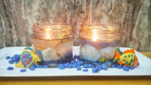 Beach candle diy