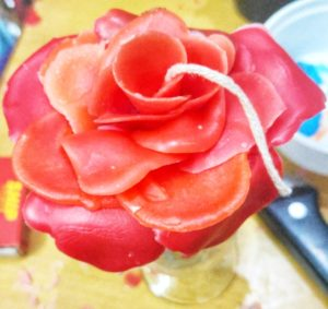 Rose candle diy