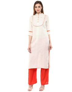 tri colour kurta pant