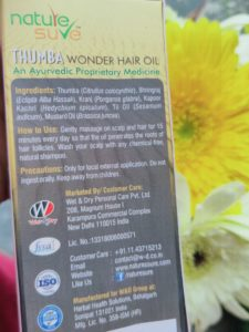 Thumba oil ingredients