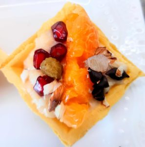 Fruity affairs canapes, cooking without Fire