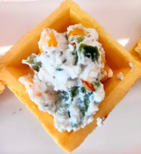 Creamy Delight canapes, cooking without Fire
