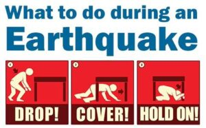 what to do while earthquake